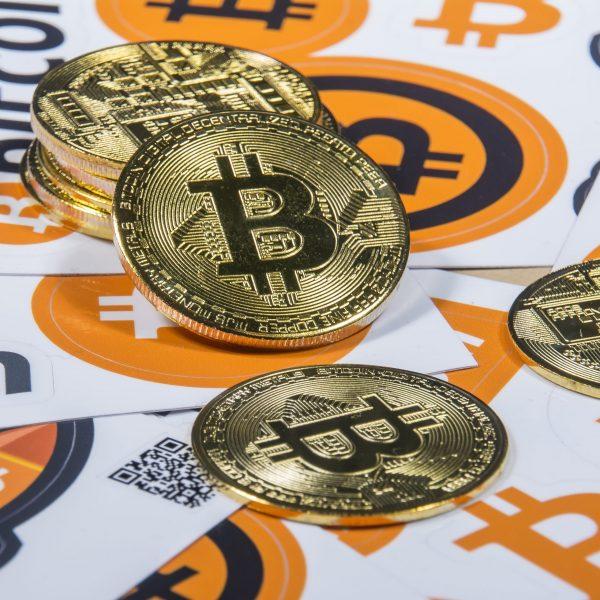 Bitcoin mince - Dekorace kov