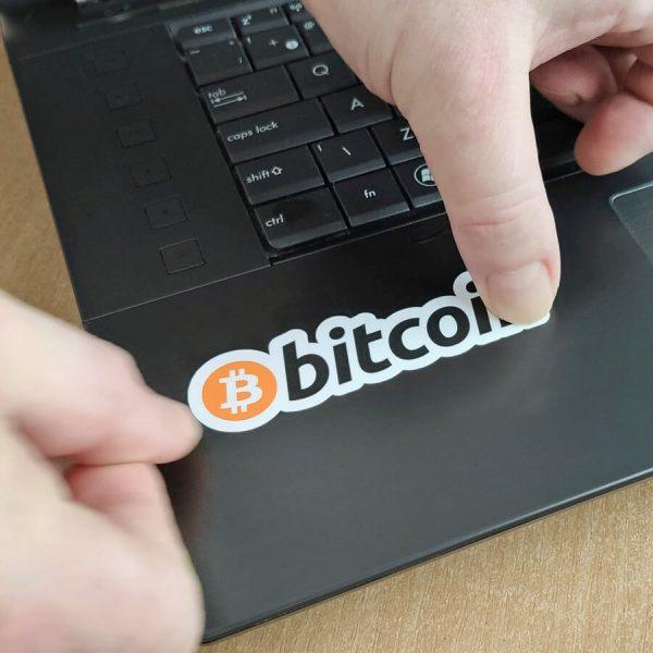 Samolepky Bitcoiny zdarma