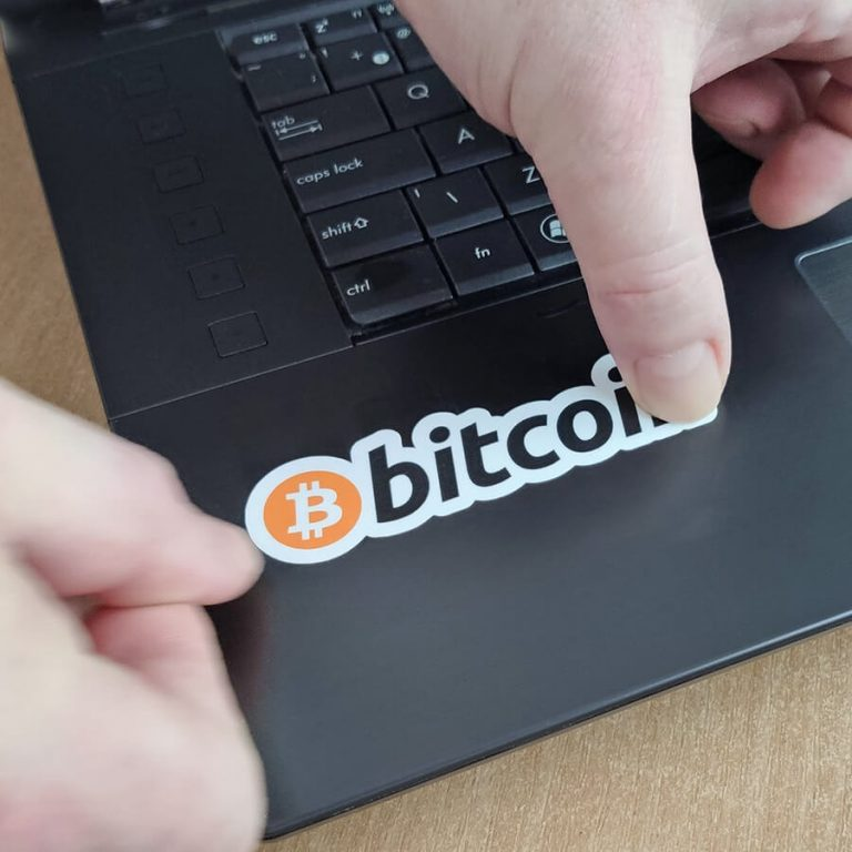 E-shop -Samolepky zdarma Bitcoiny zdarma