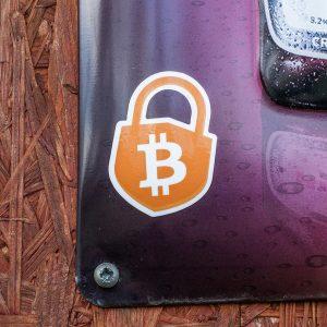 Samolepka Bitcoin zdarma