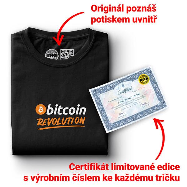 Limitované triko originál Bitcoin
