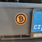 Samolepka na auto Bitcoin