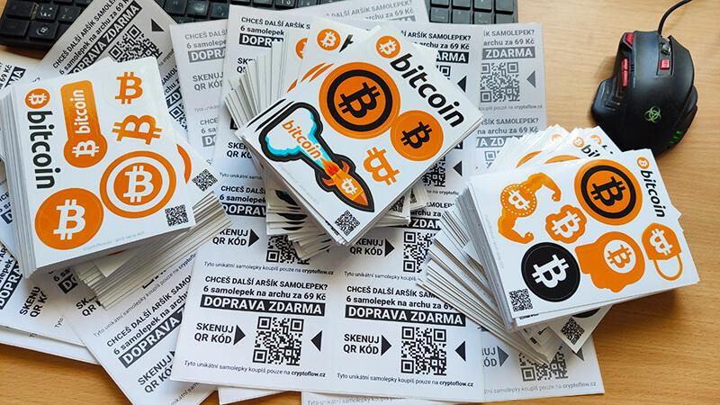 Samolepky Bitcoin za 69 doprava zdarma