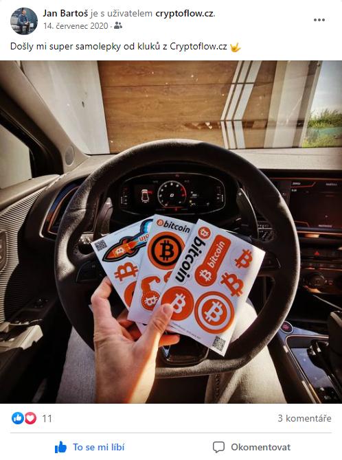 Bitcoin samolepky za 69 doprava zdarma